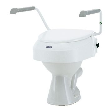 Invacare Aquatec 900 toiletverhoger met armleuningen wit 1012810