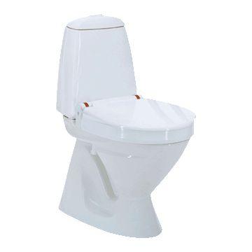 Invacare Aquatec 90000 toiletverhoger + 10cm m. deksel zonder armleuning wit 831001