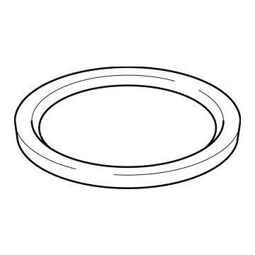 Geberit rubber O-ring afdicht, EPDM, zwart, inw diam 75mm