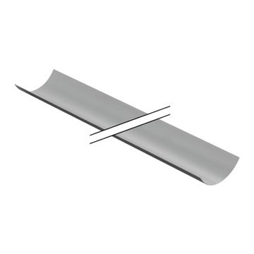 Geberit PE halfschaal gegalvaniseerd 90 mm lengte 3 m