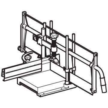 Geberit verstekzaagmachine PE, zaaghoogte 170mm, klem, le aansluitingag