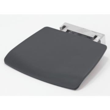 Sub 158 douchezitje tip-up RAL7021(max.160kg.)opgekl.4cm, grijs/antraciet