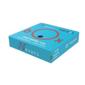 Nexans Profwire H07V-U Eca VD-installatiedraad 2,5 mm² Blauw in VD-box - 100m.