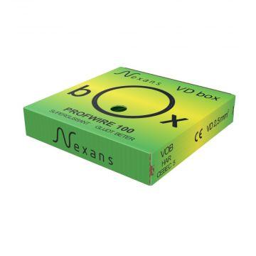 Nexans Profwire H07V-U Eca VD-installatiedraad 2,5 mm² Groen/Geel in VD-box - 100m.