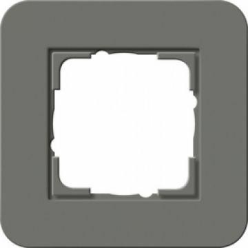 Gira E3 afdekraam 1-voudig donkergrijs-antraciet
