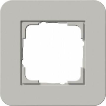 Gira E3 afdekraam 1-voudig grijs-zuiverwit