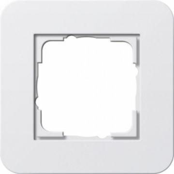 Gira E3 afdekraam 1-voudig zuiverwit-zuiverwit