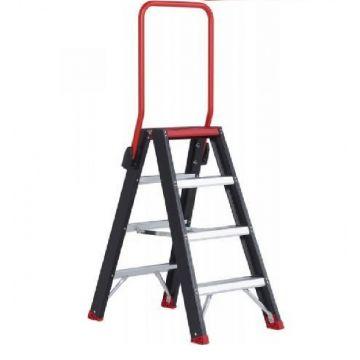 Altrex Taurus tweezijdige trap met 4 treden met veiligheidsblokkade