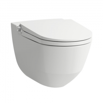 Laufen Cleanet Riva douche wc met softclose zitting, wit
