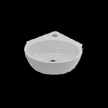 Plieger Corner hoekfontein met kraangat en zonder overloop, wit 271022