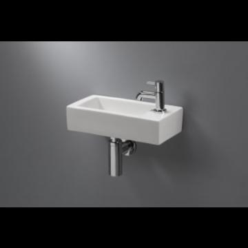 Sub 070 fontein 36,5x18,5x9 cm.kraangat li. z/overloop, wit