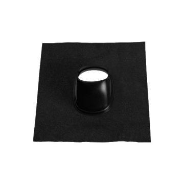 Ubbink doorvoerplaat, zwart, kunststof, systeemdiameter 131mm, voor pannendak