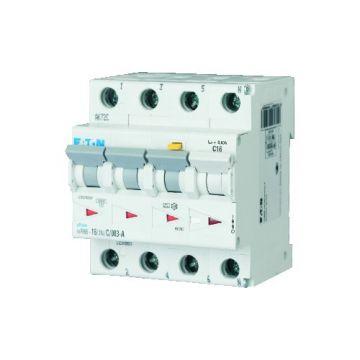 Eaton Power Quality aardlek-automaat Xpole, C-karakteristiek, nominaal (meet) 400V, nominaal (meet-)stroom 20A