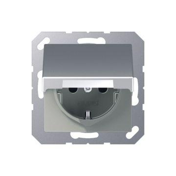 JUNG A500 wandcontactdoos KLAPD ALU