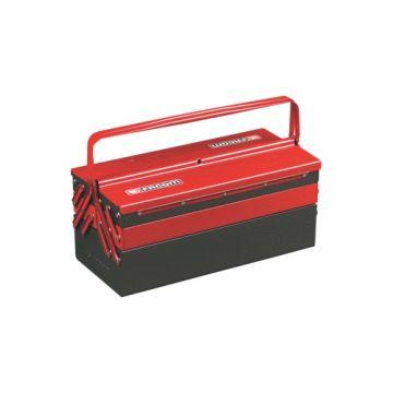 FACO gereedschapkist/tas, staal, rd/zw, (hxbxd) 238x475x220mm