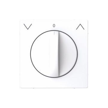 Schneider Electric Merten Systeem Design centraalplaat voor jaloezieschakelaar, lotuswit