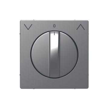 Schneider Electric Merten Systeem Design centraalplaat voor draai-jaloezieschakelaar, rvs look