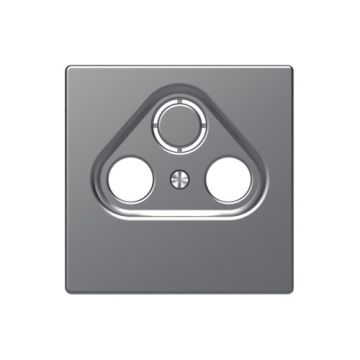 Schneider Electric Merten Systeem Design centraalplaat CAI & schotel, rvs look