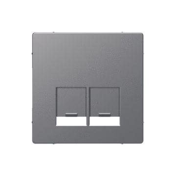 Schneider Electric Merten Systeem Design centraalplaat Actassi 2-voudig ,  rvs look