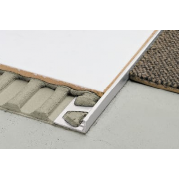 Schlüter Schiene-eb tegelprofiel 12.5 mm. 300 cm. rvs, rvs geborsteld