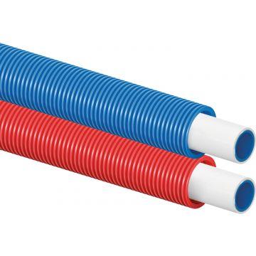 Uponor Uni pipe plus unipipe plus in mantelbuis 16x2,0-25/20 75m., blauw