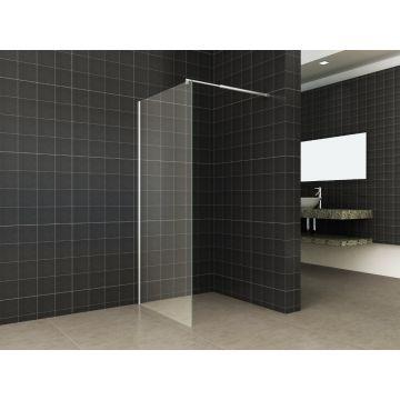 Wiesbaden Eco zijwand voor Eco nisdeur 80x195x0,6 cm, chroom