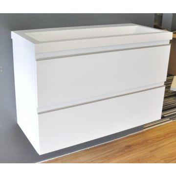 Wiesbaden wastafelonderkast met 2 laden zonder wastafel 80x36 cm, wit