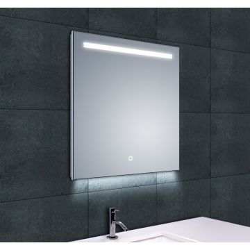 Wiesbaden Ambi One spiegel met LED-verlichting en verwarming 60x60 cm