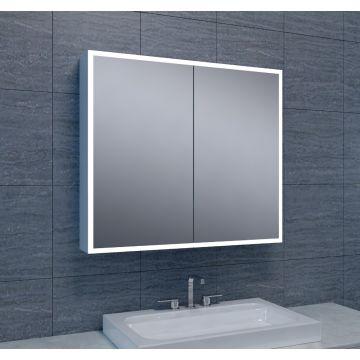 Wiesbaden Quatro spiegelkast met LED-verlichting 80x70 cm