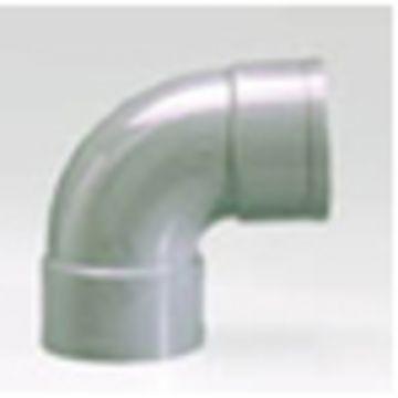 Sub PVC afvoerbocht 90° mof 4 cm, grijs