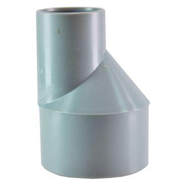 Sub PVC verloopstuk excentrisch spie/mof 75x40