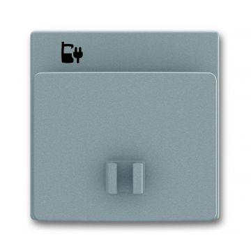 Busch-Jaeger Solo centraalplaat voor USB-laadstation 6474 U, grijs metallic