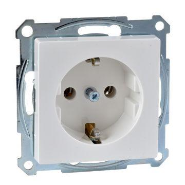 Schneider Electric Merten Systeem M wandcontactdoos 4mm met randaarde, polarwit