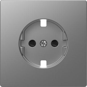 Schneider Electric Merten Systeem Design centraalplaat voor wandcontactdoos, rvs look