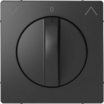 Schneider Electric Merten Systeem Design centraalplaat voor draai-jaloezieschakelaar, antraciet