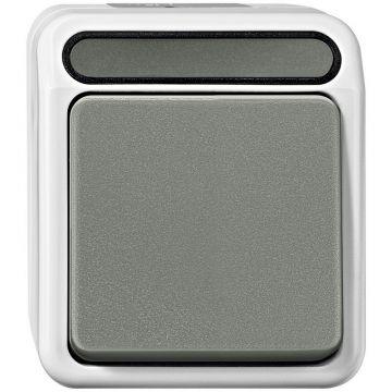 Schneider Electric Merten Aquastar opbouw wisselimpulsdrukker 1-polig, grijs