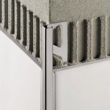 Schluter Quadec-eb afsluit profiel rvs v2a geborsteld 10mm 300cm, roestvast staal geborstel