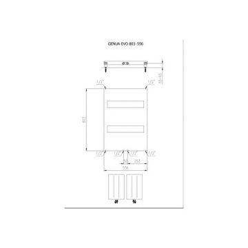 Plieger Genua EVO designradiator horizontaal 800x550mm 361W wit