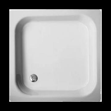 Bette Vlak plaatstalen douchebak 120 x 80 x 15 cm., wit