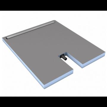 Wedi Fundo linea sleuf 70 cm. 1200x800x70 mm., blauw