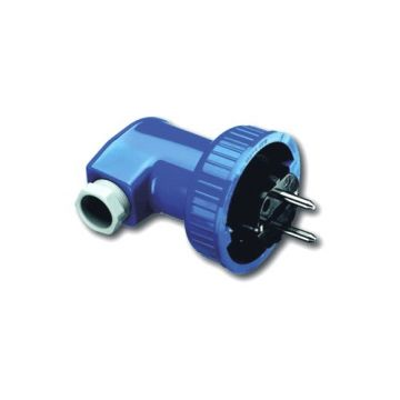 Busch-Jaeger Busch-duro 2000 WD contactstop met randaarde 2-polig (2P + PE), blauw