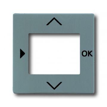 Busch-Jaeger Solo centraalplaat voor jaloeziesturing met venster, grijsmetallic
