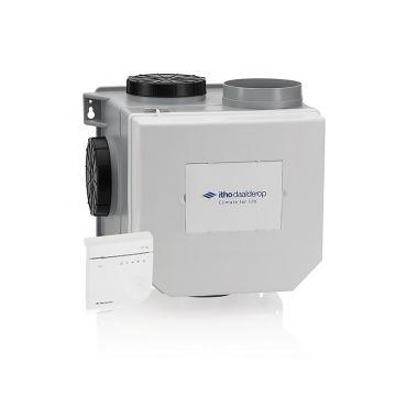 Itho Daalderop CVE-S Optima-ventilatiepakket, ventilatievermogen 468 m3/uur high performance met CO2-sensor, vochtsensor en euro- en Perilex-stekker