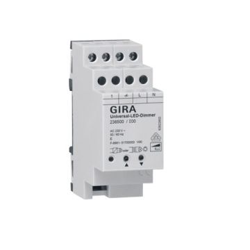 Gira System 3000 universele led-dimmer montagewijze DIN-rail
