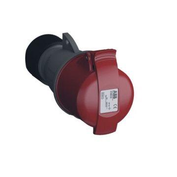 ABB Cee-koppelcontactstop kunstof, rood