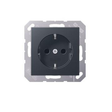 Jung A500 wandcontactdoos kunststof, 1 eenheid, antraciet