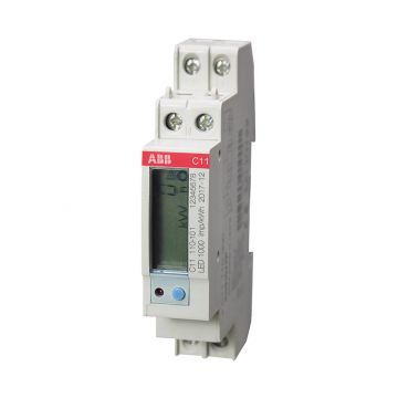 ABB System pro M compact energiemeter C serie 1x230Vac, 40A, 1xS0 pulse of alarm