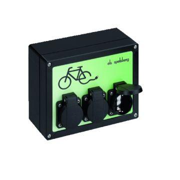 Spelsberg laadpaal voor elektrische fiets, 3-fase, 3,5kW, zwart