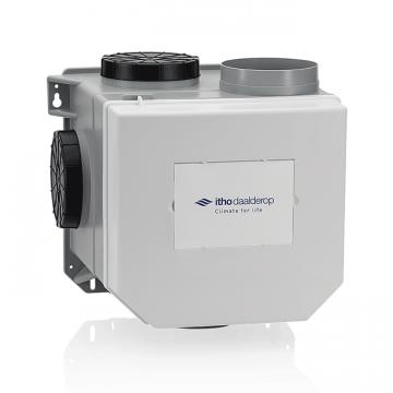 Itho Daalderop CVE-S ECO SP ventilatie-unit, ventilatievermogen 375 m3/uur, met Perilex-stekker en vochtsensor