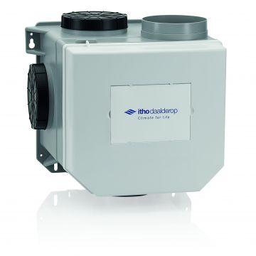 Itho Daalderop CVE-S ECO HE ventilatie-unit randaarde, ventilatievermogen 468 m3/uur high performance met vochtsensor en eurostekker